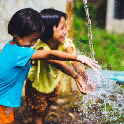 Give access to clean water and sanitation.