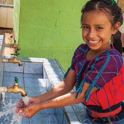 Give access to clean water & sanitation.
